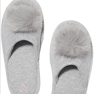 Victoria secret gray slippers